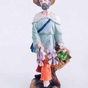 Pastor Florista Resina 30cm